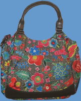 OILILY Shopper FUNKY FLOWER charcoal