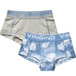 Vingino 2-er Pack Shorts BLUE LOVE Girls