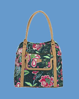 OILILY Tasche Shopper Green PAISLY FLOWER