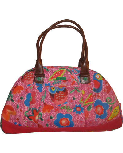 OILILY Bowling Bag FUNKY FLOWERS pink