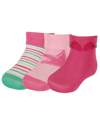 Maximo Baby Girls 3er Pack Socken ABS