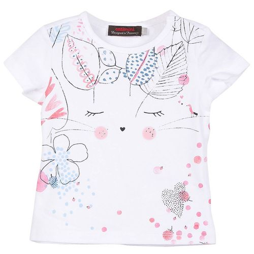 Catimini Girls Mini Kid Graphic Floral T-Shirt