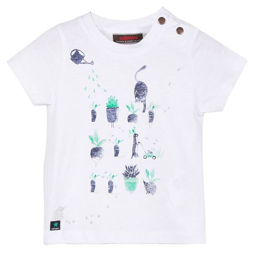 Catimini Boys Mini Kid Graphic City T-Shirt