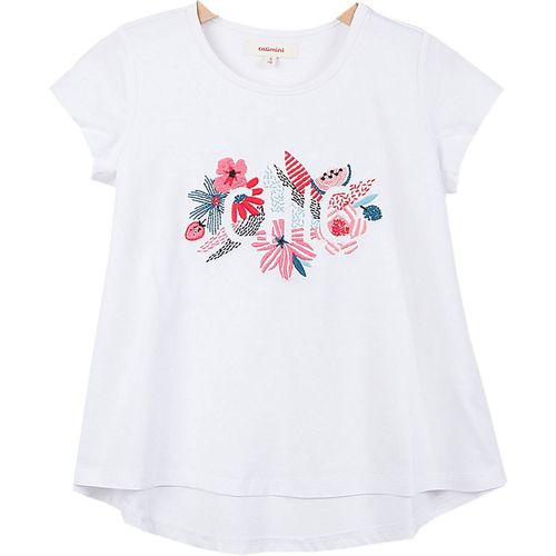 Catimini Girls Enfant Graphic Floral T-Shirt