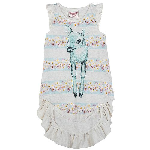 Paper Wings Girls Kleid Daisy Deer