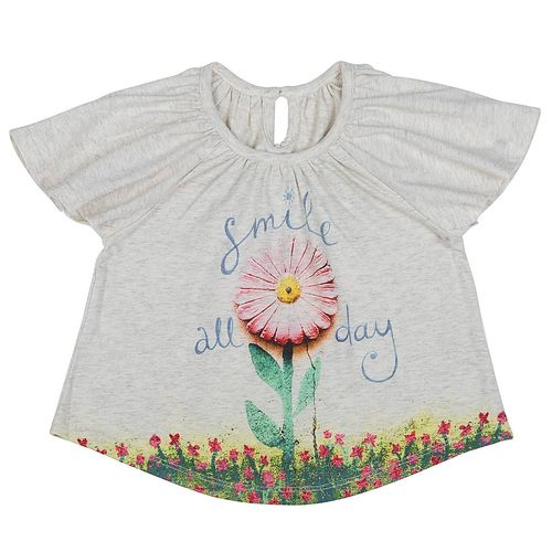 Paper Wings Little Girls T-Shirt Smile all day