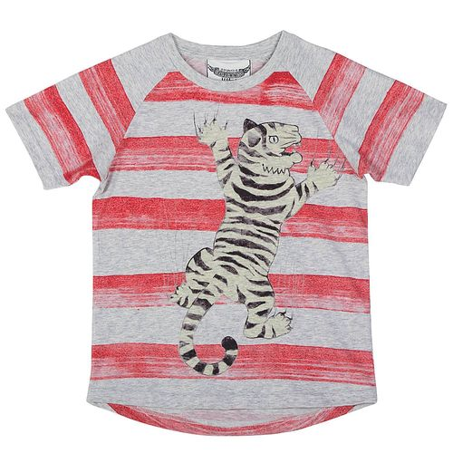 Paper Wings Boys T-Shirt Tiger