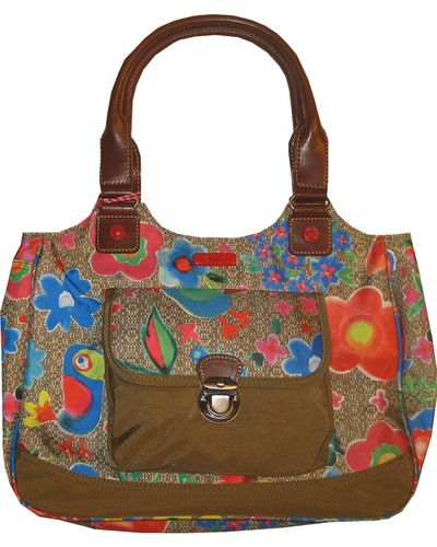 Oilily Funky Flowers M Carry All Khaki
