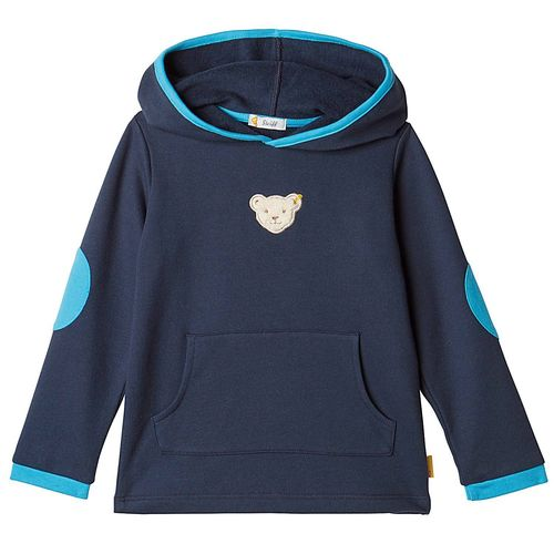 Steiff Jungen Blue Stripe Kapuzen Sweat-Shirt